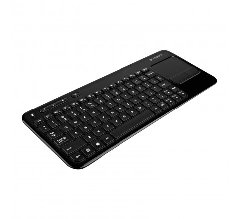 Logitech K410 Wireless Keyboard with Touchpad for TV-Connected PCs (Black)