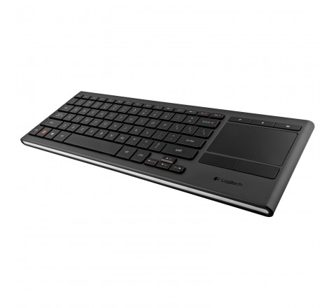 Logitech K830 Illuminated Wireless Keyboard and Touchpad (Black)