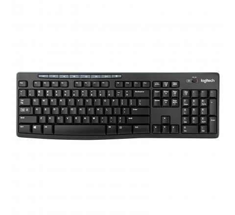 Logitech MK270 Wireless Keyboard and Mouse (Black)