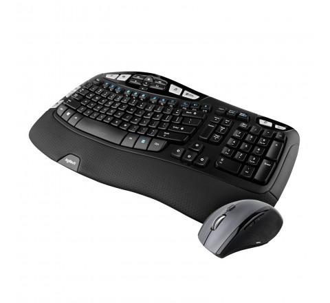 Logitech MK570 Comfort Wave Wireless Keyboard and Optical Mouse (Black)