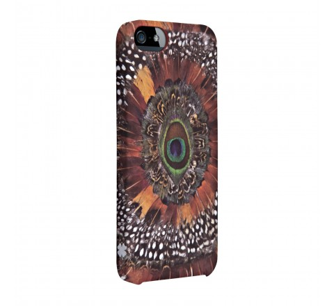 Lucky Peacock Feather Silicone Cover (Black)