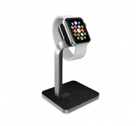 Mophie Charging Dock/Stand for Apple Watch (Silver)