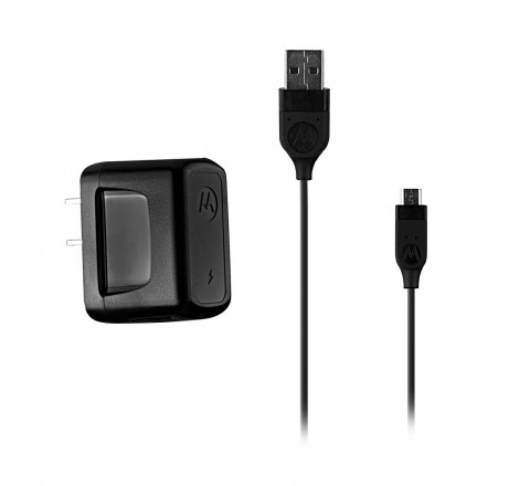 Motorola Micro-USB Charger with Cable (Black)