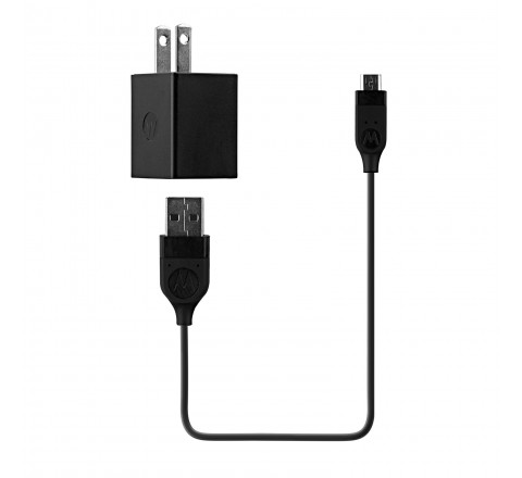 Motorola Dual Port USB Rapid Charger for Micro-USB Devices (Black)