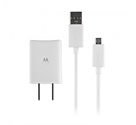 Motorola Charger with Dual Micro-USB Ports (White)