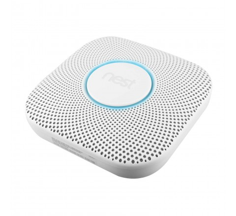 Nest Protect 2nd Generation Battery Powered Smoke and Carbon Monoxide Detector (White)