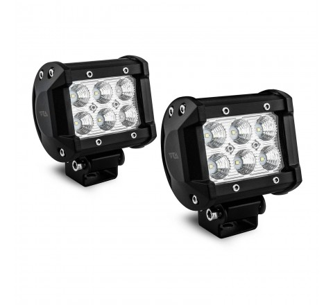 Ora Night Runner Off Road LED Worklights - Bar Mount Floodlight 2 Pack (Black)