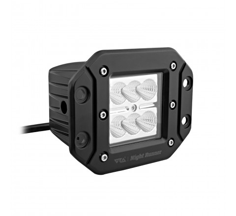 Ora Night Runner Off Road LED Worklights - Flush Mount Floodlight 2 Pack (Black)