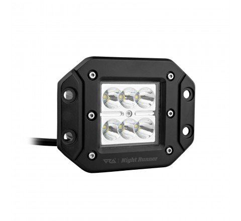 Ora Night Runner Off Road LED Worklights - Flush Mount Spotlight 2 Pack (Black)