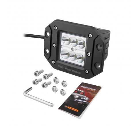Ora Night Runner Off Road LED Worklights - Flush Mount Spotlight (Black)