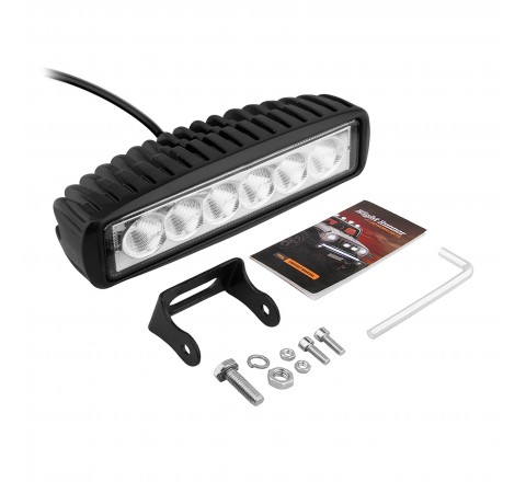 Ora Night Runner Off Road LED Worklights - Slim Profile Bar Mount Floodlight (Black)