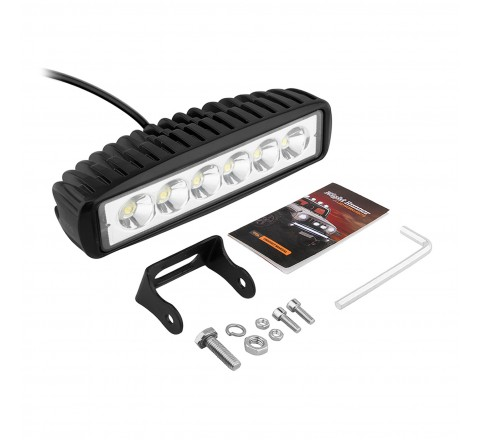 Ora Night Runner Off Road LED Worklights - Slim Profile Bar Mount Spotlight (Black)