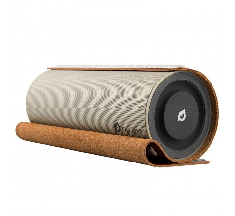 Owlee Scroll Vintage Leather Bluetooth Speaker (Brown)