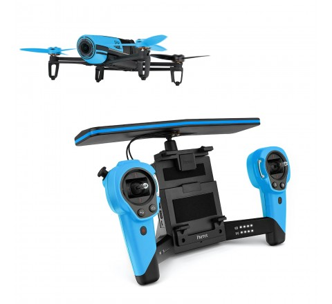 Parrot Bebop 1 Quadcopter Plus SkyController Drone Kit (Blue)