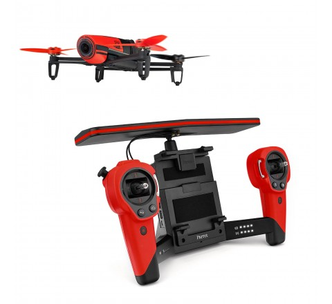 Parrot Bebop 1 Quadcopter Plus SkyController Drone Kit (Red)