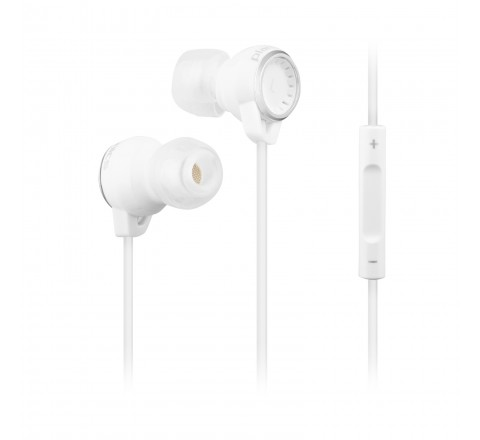 Plantronics BackBeat 216 Wired Stereo Earbuds with In-line Mic (White)