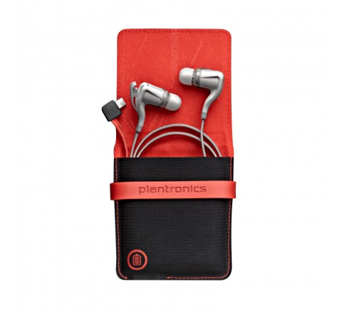 Plantronics BackBeat GO 2 Bluetooth Earbuds with Charging Case (White)
