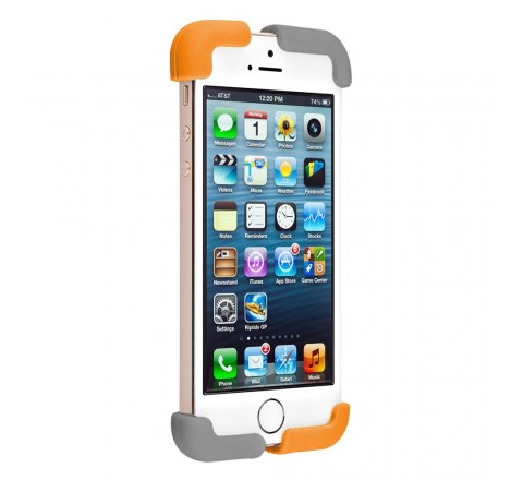 Quirky Crossover Cell Phone Case for iPhone 5/5S/SE (Orange/Gray)