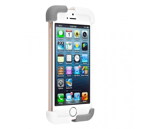 Quirky Crossover Cell Phone Case for iPhone 5/5S/SE (White/Gray)