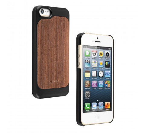 Quirky Pli Case for iPhone 5/5S/SE (Black/Walnut)