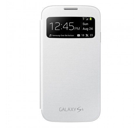 Samsung S-View Flip Cover for Samsung Galaxy S4 (White)