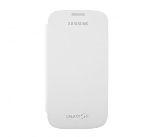 Samsung Flip Cover for Samsung Galaxy S3 (Marble White)