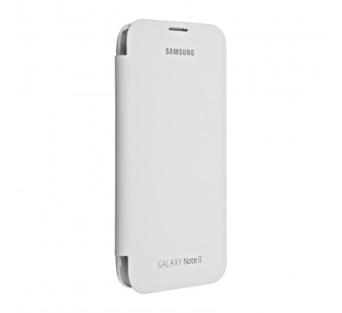 Flip Screen Protection Case for Samsung Galaxy Note 2 (White)
