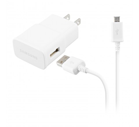 Samsung ETA-U90JWE 2 Amp Charger with Micro USB Data Sync Charging Cable (White)