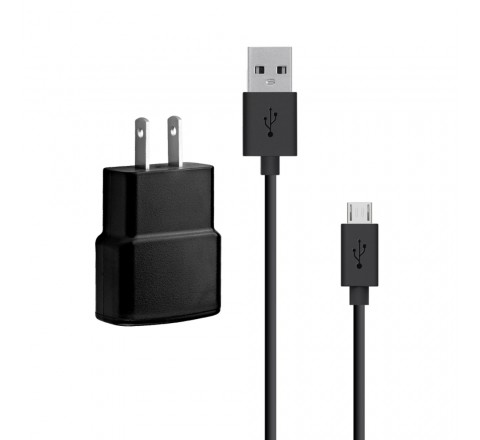 Samsung 1 Amp wall Power (AC) Adapter with Detachable Micro USB Data Cable