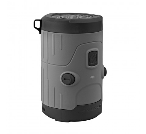 Scosche boomBOTTLE H20 Rugged Waterproof Bluetooth Wireless Speaker (Gray)