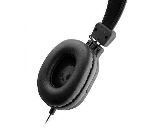 Skullcandy Agent Wired Over-Ear Headphones (Black)