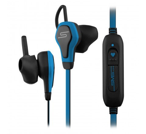 SMS Audio BioSport Smart Earbuds with Integrated Heart Monitor (Blue)