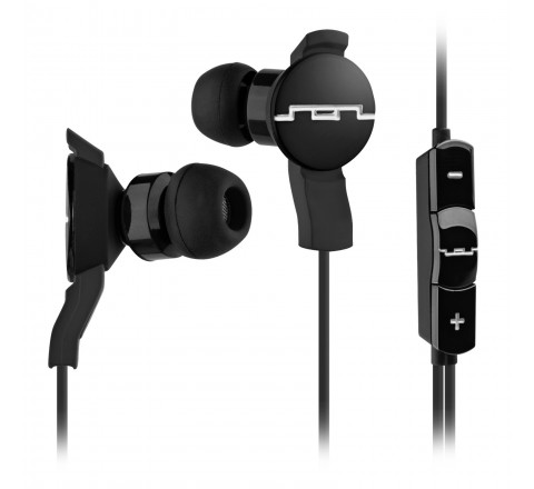 Sol Republic 1101-31 AMPS Earbuds with 3-Button Mic + Music Control (Black)
