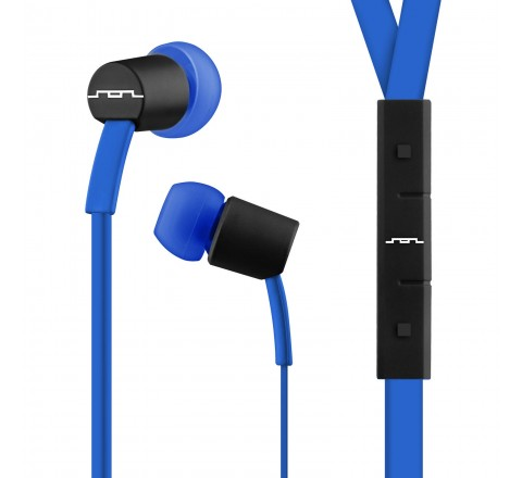 Sol Republic 1111-36 Jax Earbuds with 3-Button Mic + Music Control (Blue/Steller)