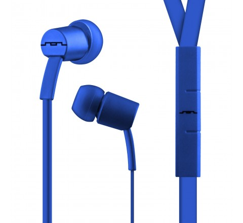 Sol Republic 1112-36 Jax Earbuds with 1-Button Mic + Music Control (Electric Blue)