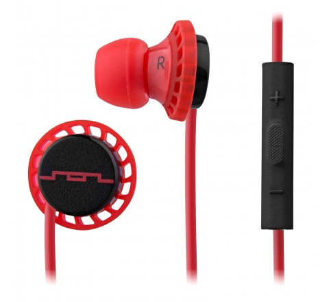 Sol Republic 1131-33 Relays Earbuds with 3-Button Mic + Music Control  (Flouro Red)