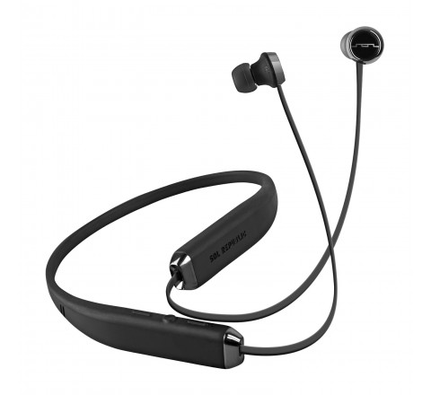 Sol Republic 1140-01 Shadow Wireless Bluetooth In-Ear Headphones (Black/Steel Gray)