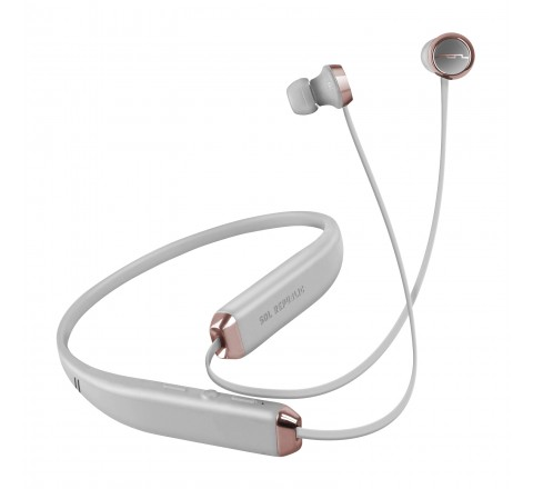 Sol Republic 1140-04 Shadow Wireless Bluetooth In-Ear Headphones (Gray/Rose Gold)