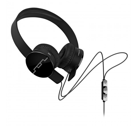 Sol Republic 1211-01 Tracks On-Ear Interchangeable Headphones with 3-Button Mic and Music Control (Black)