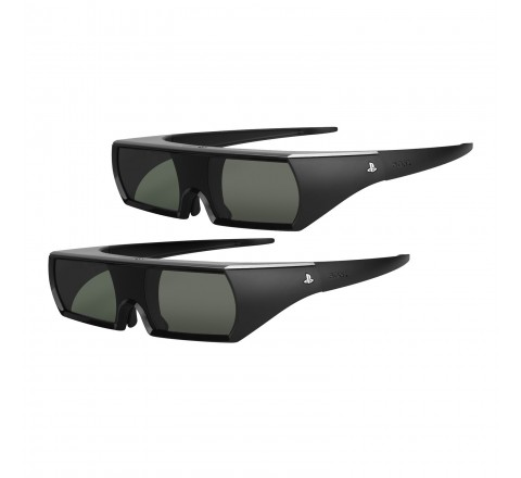 2-Pack Sony PS3 Active Shutter 3D Glasses (Black)
