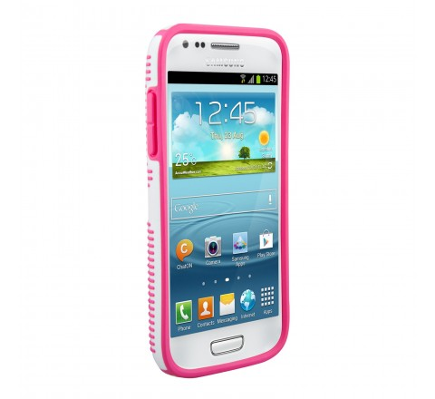 Speck CandyShell Case for Samsung S4 Mini (White/Raspberry)