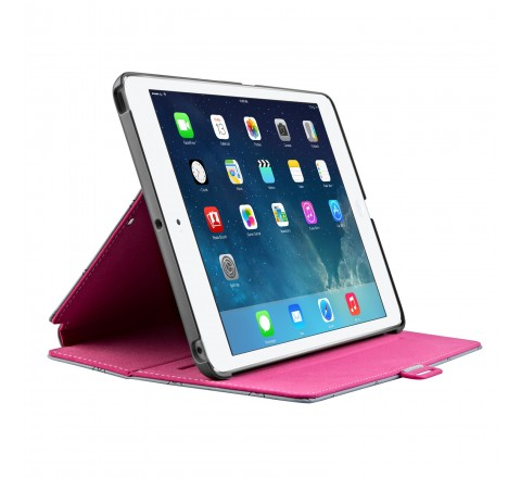 Speck StyleFolio Case , Stand for iPad Air (LoveSpace Nickel/Raspberry Pink)