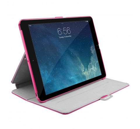 Speck StyleFolio Case, Stand for iPad Air (Fuchsia Pink/Nickel Grey)