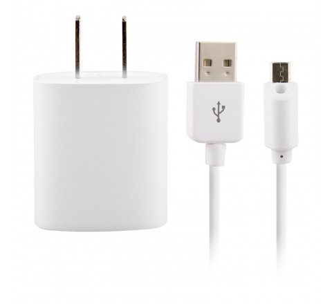 Micro USB Wall Charger with Cable and LED Light