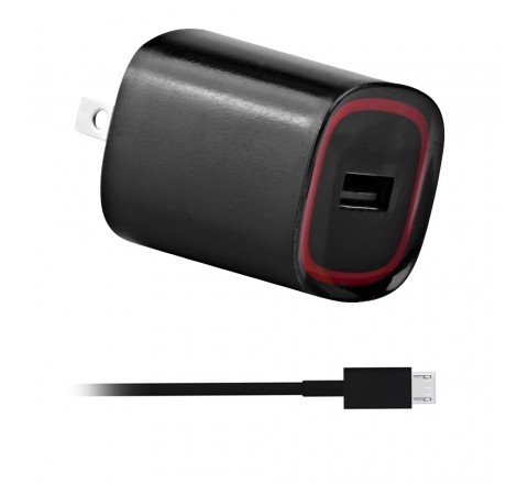 Rapid 2.1 Amp Micro-USB Travel Charger with Touch Activated LED Light
