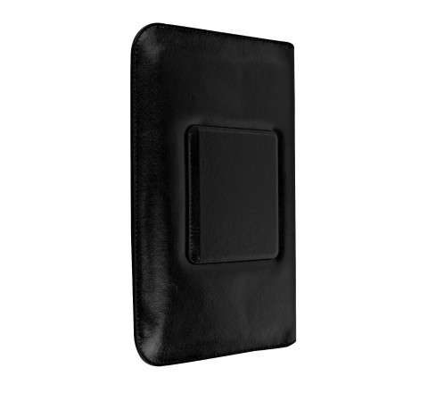 """Leather Pouch with Kickstand for 7"""" Tablets (Black)"""