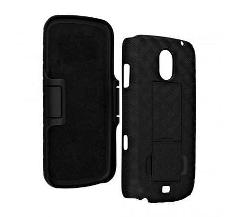 Samsung Galaxy Nexus Shell Holster Combo with Kickstand (Black)
