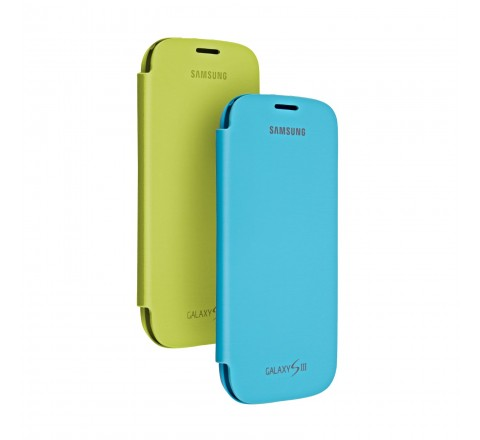 Samsung Flip Cover for Samsung Galaxy S3 - 2 Pack (Blue/Green)