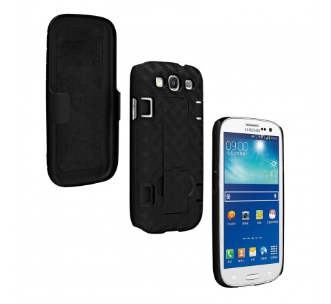 Samsung Galaxy S3 Shell Holster Combo with Stand (Black)