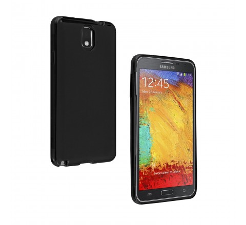 Samsung High Gloss Silicone Cover for Samsung Galaxy Note 3 (Black)